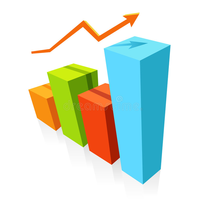 Graph. Statistics graphic.Useful for various projects stock illustration