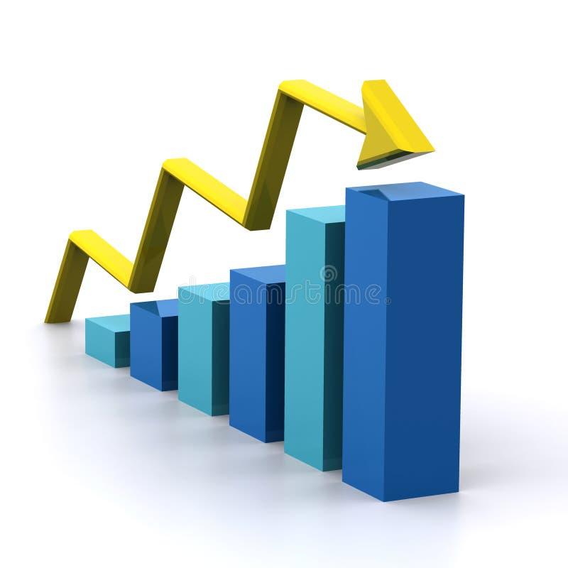 Graph 3d Rendered stock illustration