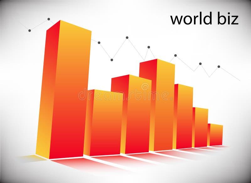 Graph. Illustration of business graph... world biz vector illustration