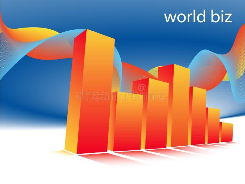 Graph. Illustration of business graph... world biz royalty free illustration