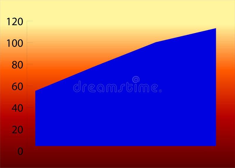Graph 60 royalty free illustration