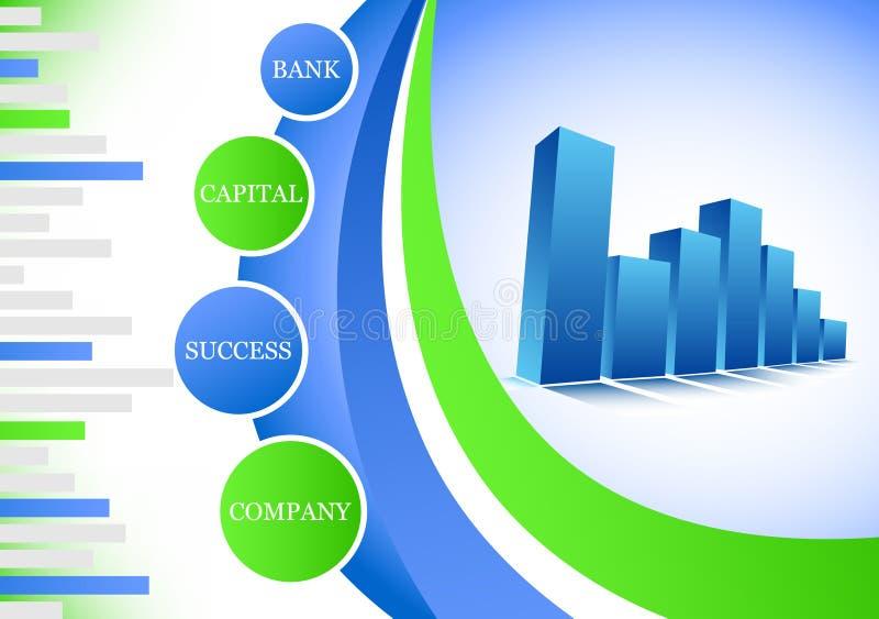 Graph. Vector illustration of blue graph stock illustration