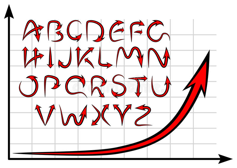 Download Graph alphabet stock vector. Illustration of business - 22120121