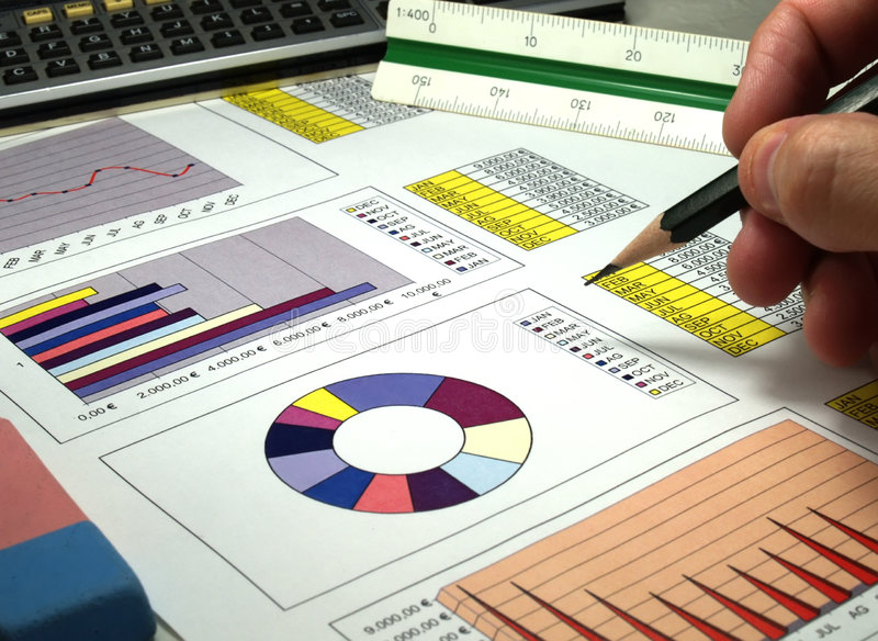 Graph analysis royalty free stock images