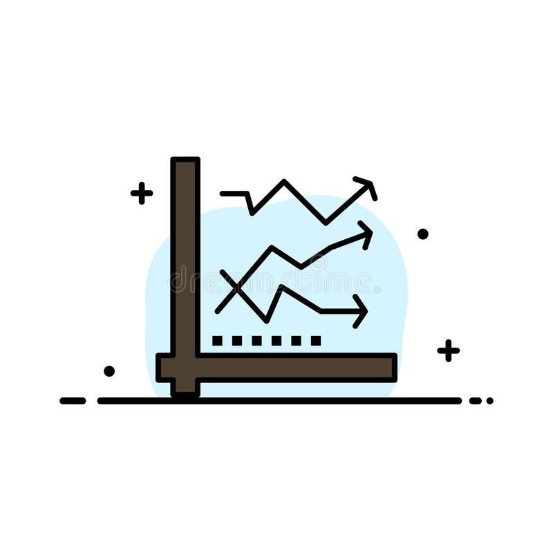 Graph, Analysis, Analytic, Analytics, Chart, Data  Business Flat Line Filled Icon Vector Banner Template royalty free illustration