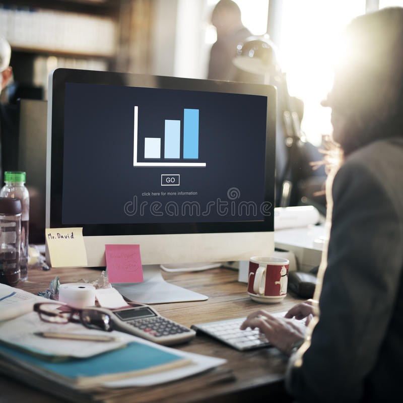 Graph Analysis Statistics Report Concept stock photography