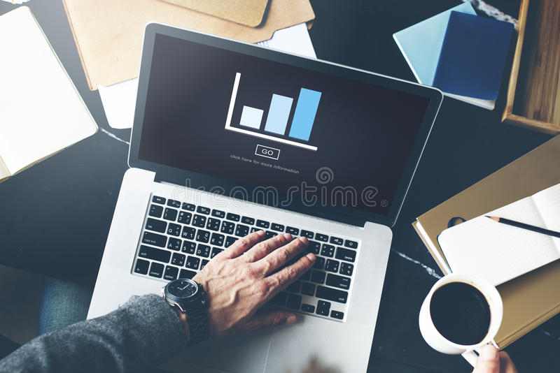 Graph Analysis Statistics Report Concept.  royalty free stock photo