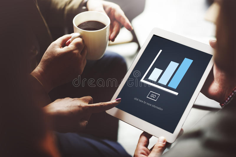 Graph Analysis Statistics Report Concept. People Graph Analysis Statistics Report royalty free stock images