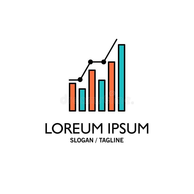 Graph, Analytics, Business, Diagram, Marketing, Statistics, Trends Business Logo Template. Flat Color vector illustration