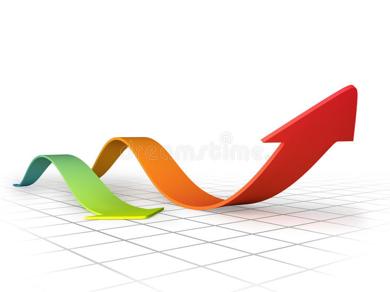 Graph Arrows Swirl Stock Photography