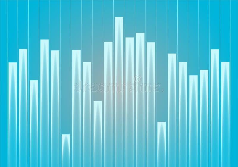 Graph background vector illustration