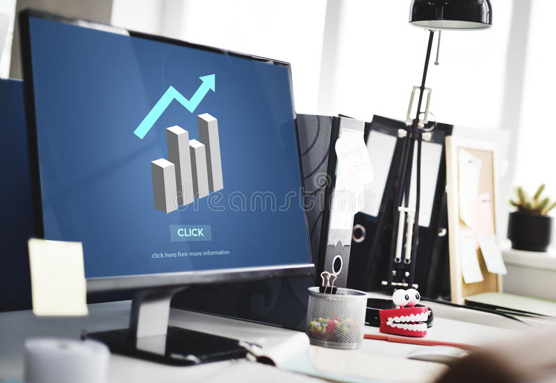 Graph Bar Chart Report Icon Concept royalty free stock image