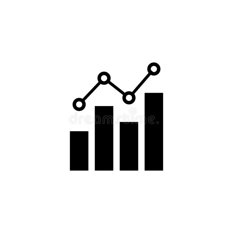 Graph business isolated vector illustration royalty free illustration