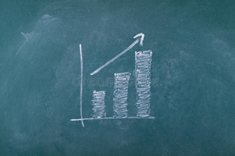 Download Graph on chalkboard stock image. Image of graph, green - 27257585