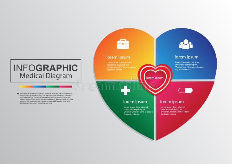 Business vector medical diagram heart infographic stock vector download business vector medical diagram heart infographic stock vector illustration of illustration form ccuart Images