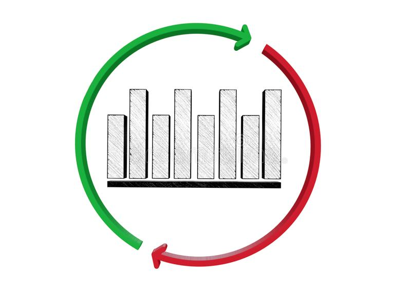 Graph Chart Sign Icon  Diagram Symbol  Stock Illustration