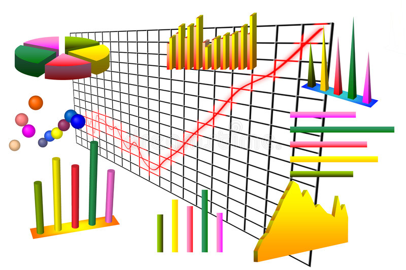 Download Graph and charts over grid stock illustration. Illustration of area - 9140627