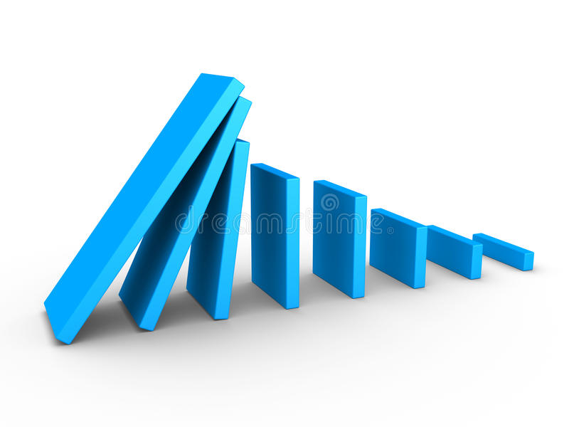Download Graph Descending And Domino Effect Royalty Free Stock Images - Image: 26899649