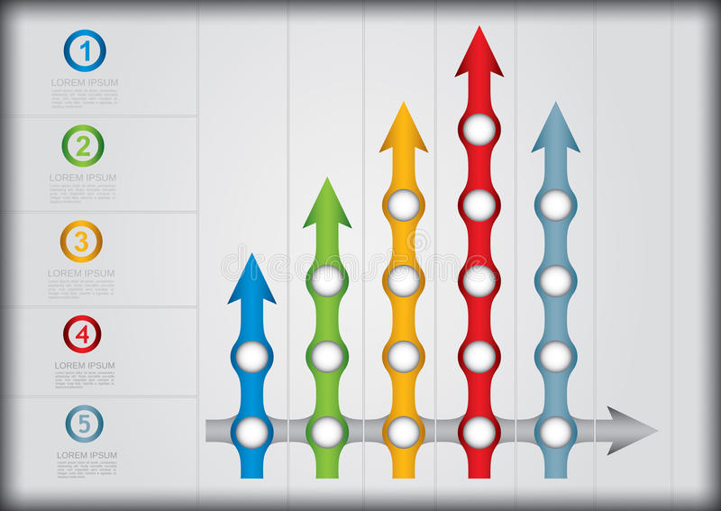 Graph Of Development Royalty Free Stock Photography