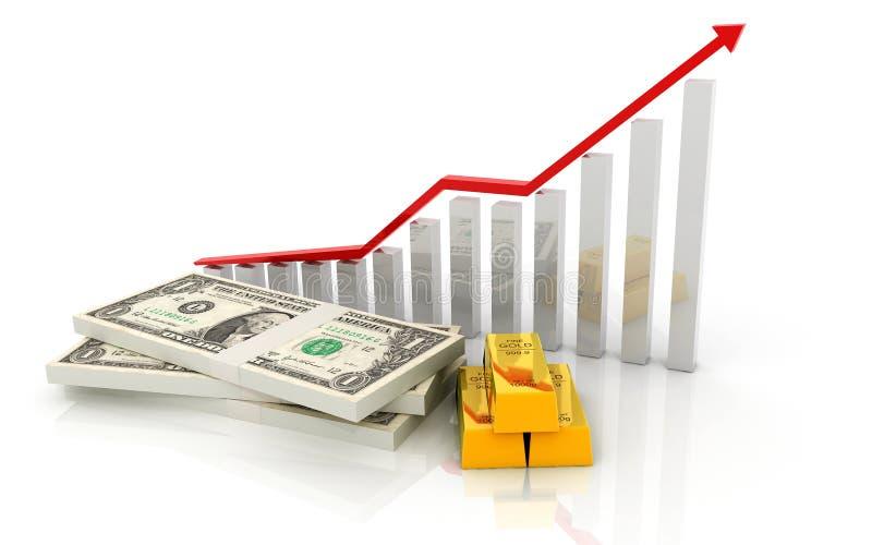 Download Graph stock illustration. Image of finance, dollar, glass - 32003108
