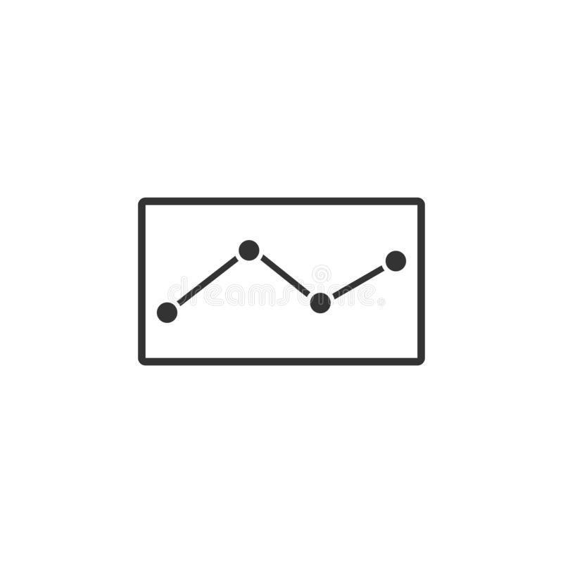 Graph down icon flat vector illustration