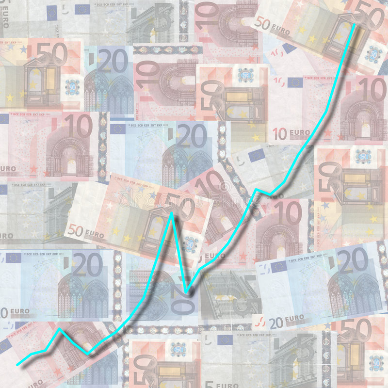 Download Graph on euro currency stock illustration. Illustration of illustration - 7634219