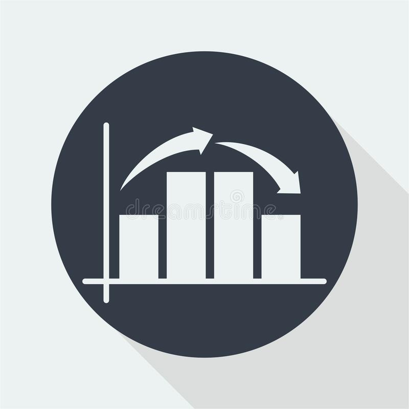 Graph Flat Design Math Design Data Design Stock Image Image Of