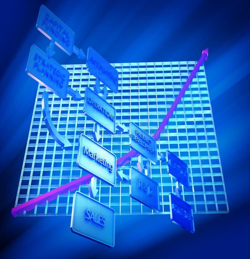 Graph & Flow Chart stock illustration