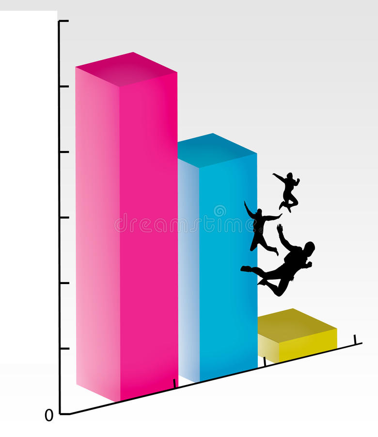 Graph in Free Fall royalty free illustration
