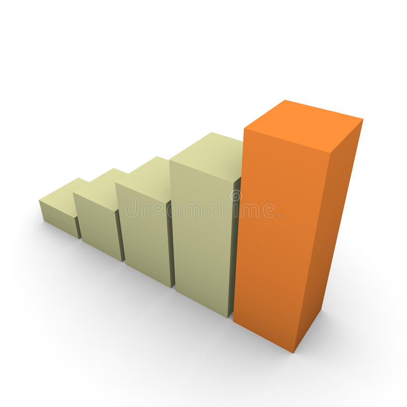 Graph Of Growth Stock Images