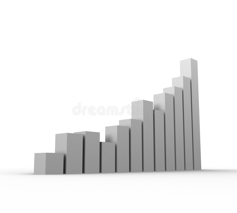 Download Graph Growth stock illustration. Illustration of climbing - 544820