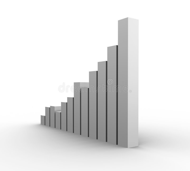 Download Graph Growth stock illustration. Illustration of isolated - 544821