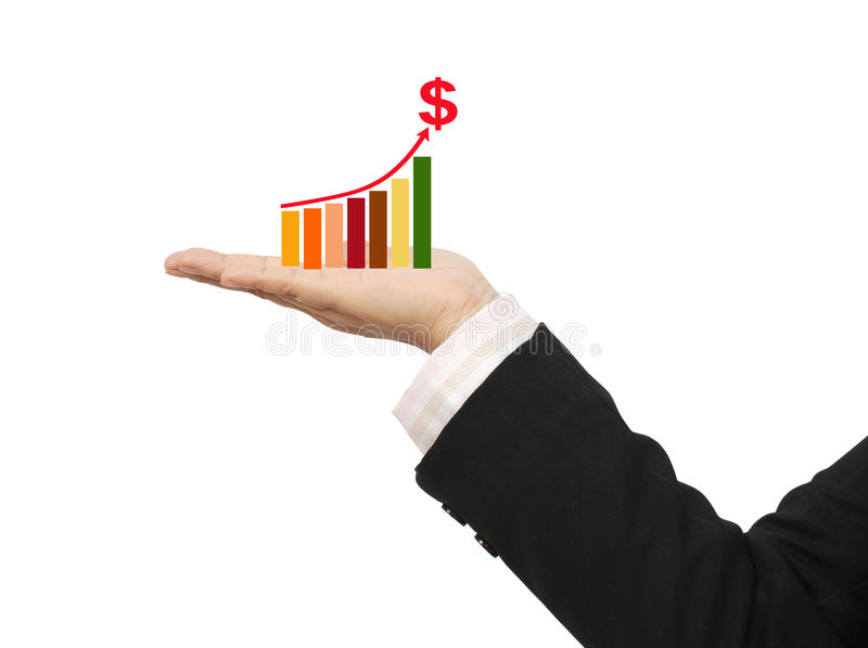 Download Graph on hand stock image. Image of background, hand - 21943585