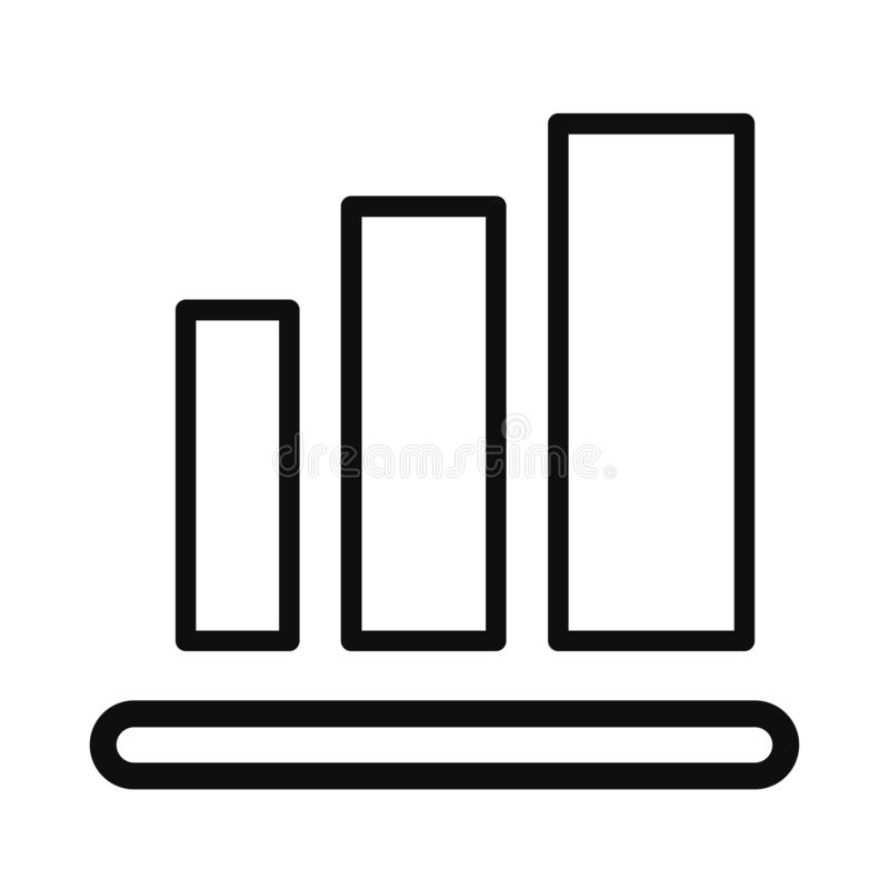 Graph Icon in linear style isolated on white background. Chart bar symbol for your web site design, logo, app, UI. vector illustration