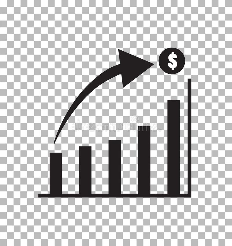 Graph Icon in trendy flat style isolated on transparent stock illustration