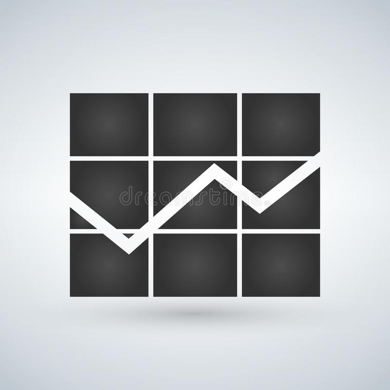 Graph Icon in trendy flat style isolated on white background. Chart bar symbol for web site design, logo, app, UI. Vector illustra stock illustration