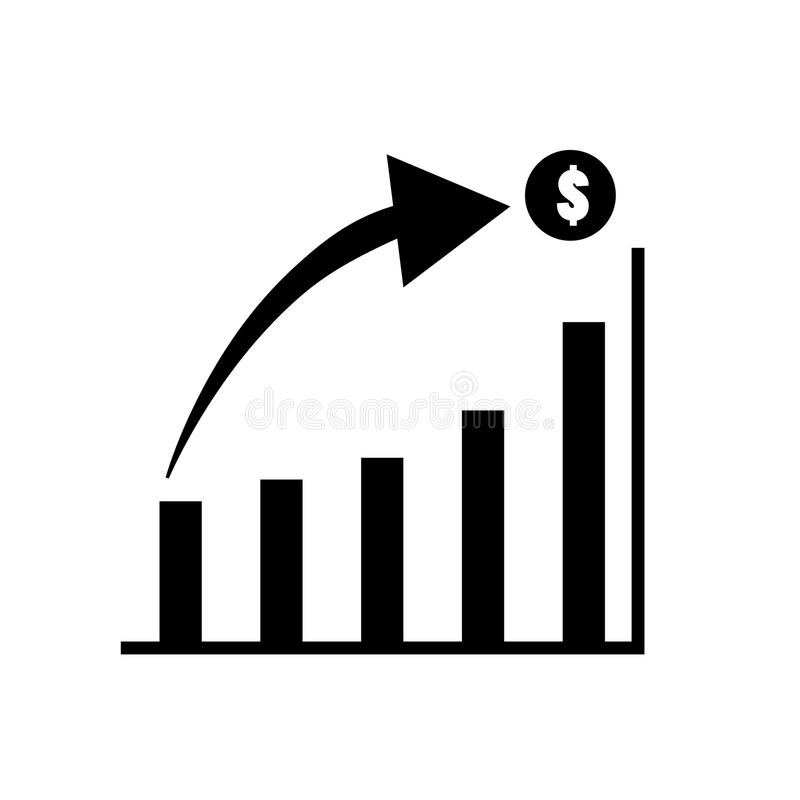 Graph Icon in trendy flat style isolated on white background. royalty free illustration