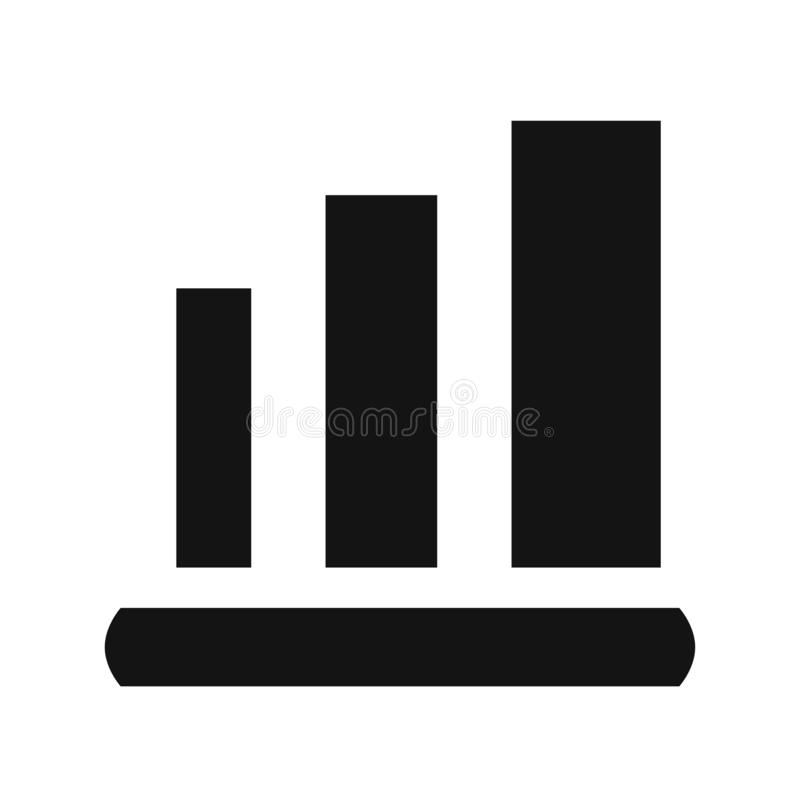Graph Icon in trendy flat style isolated on white background. Chart bar symbol for your web site design, logo, app, UI. royalty free illustration