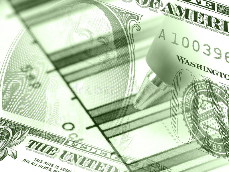 Download Graph And Money (in Greens) Stock Photo - Image: 8081362