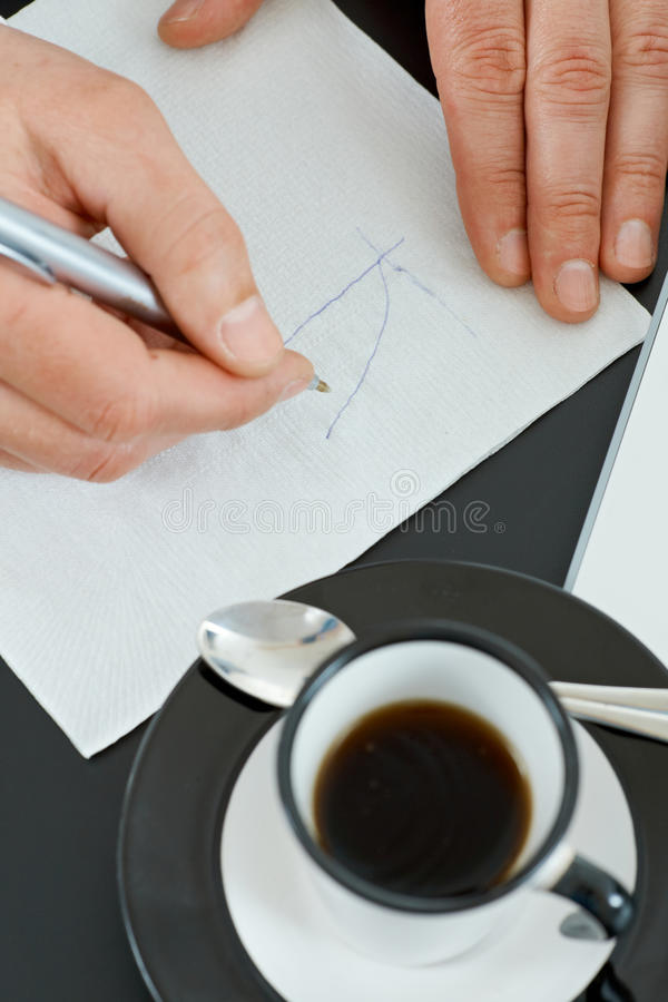 Download Graph on napkin stock image. Image of document, image - 11063435