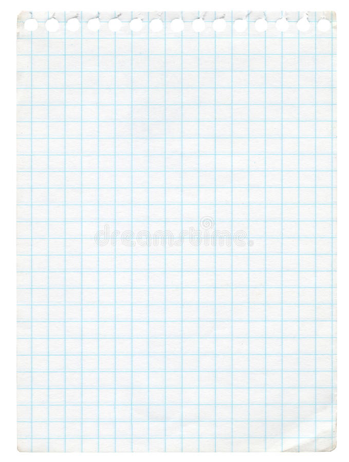 Graph paper. Old graph paper isolated on white. Extra high resolution stock photos