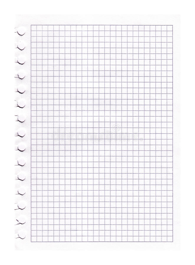 Graph paper. Old graph paper - lines in black royalty free stock images