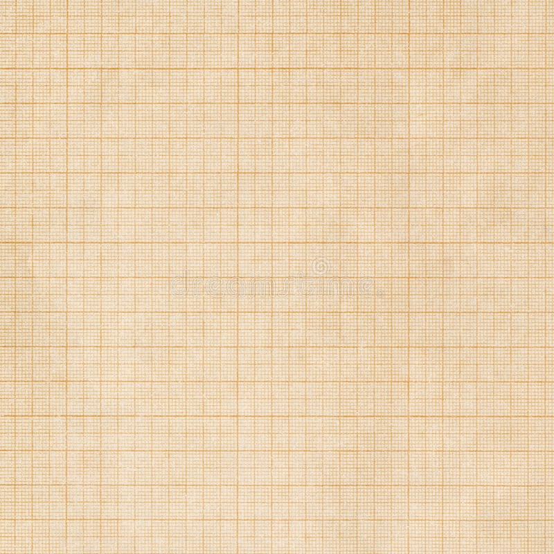 Graph paper. Old sepia graph paper square grid background royalty free stock photo