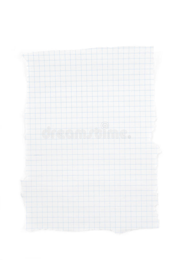 Graph paper. Isolated on the white background stock photos