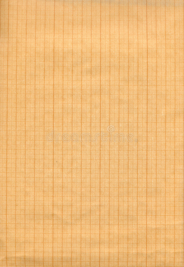 Graph Paper. Old vintage graph paper used for hand drawings royalty free stock photography