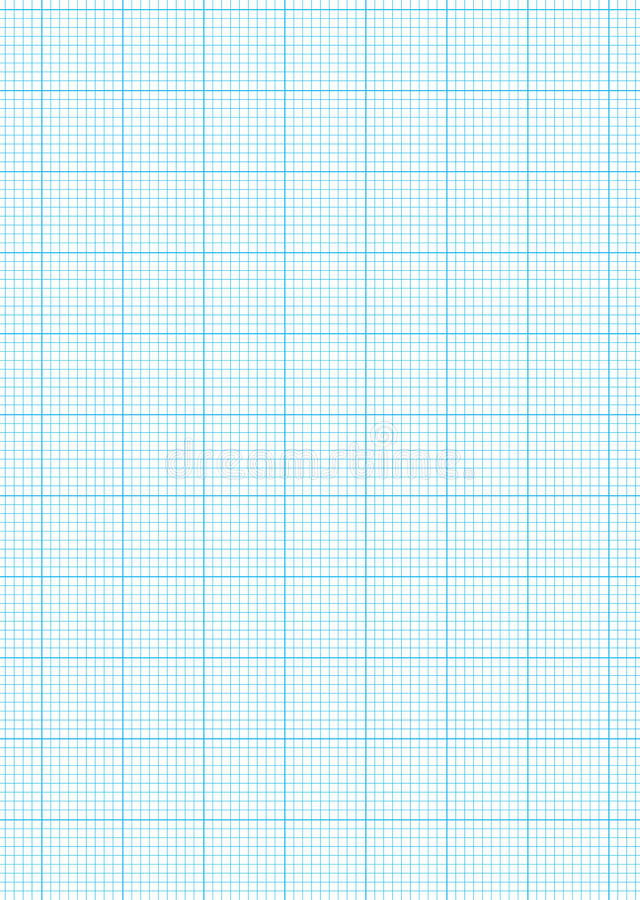 graph paper a4 sheet stock vector illustration of grid