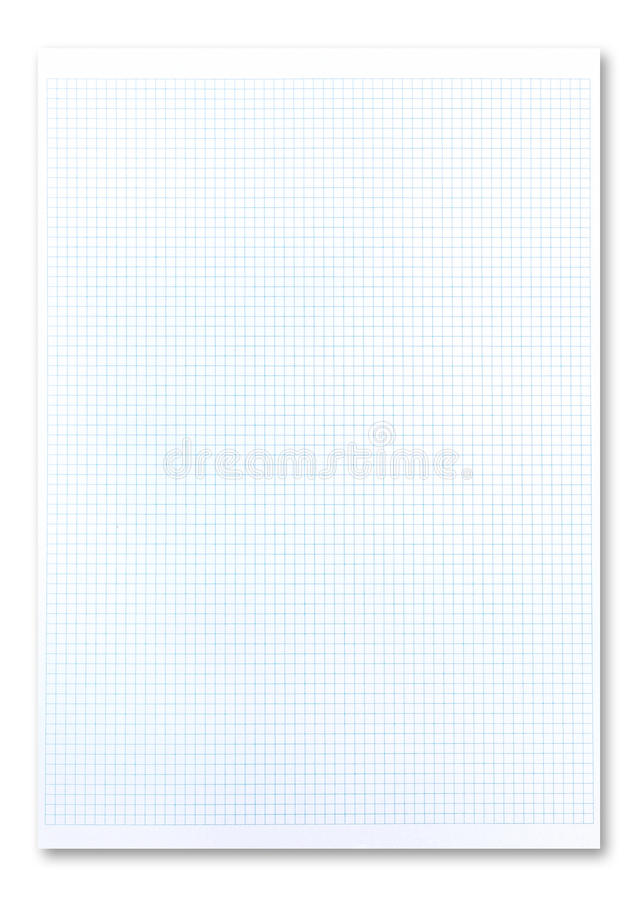 Graph paper. Blank graph paper on white background royalty free stock photos