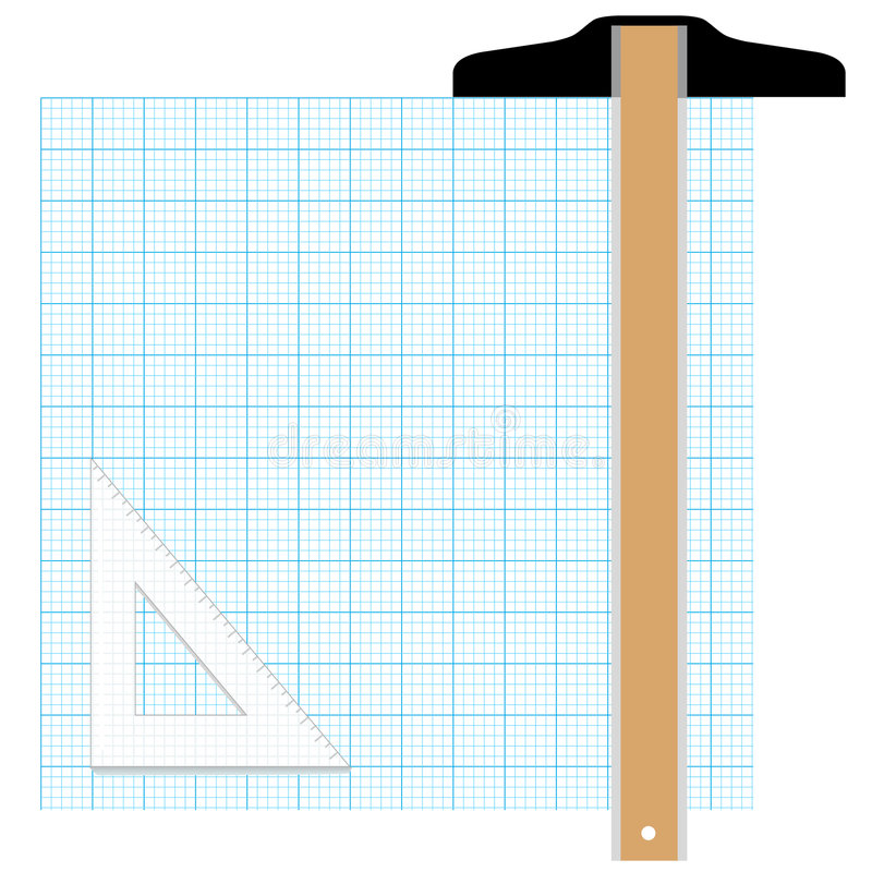graph paper drafting tools stock vector  illustration of