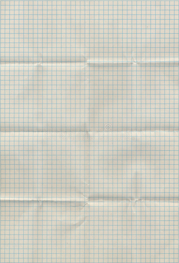 Graph paper folded. In sixteen parts. High resolution stock photos