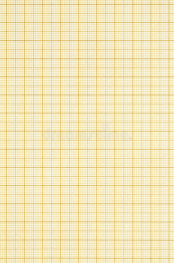 Graph paper. Old sepia graph paper square grid background stock photo